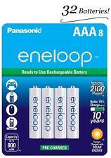 4 Pk = 32 Batts Panasonic Eneloop AAA NiMH Rechargeable Battery HR03 2100 Cycle