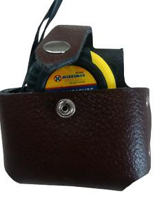 Brown Leather 7.5m Tape Measure Holder Hostler Pouch 4 Scaffold Tool work Belt