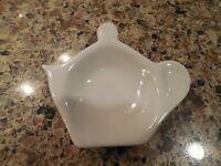 Vintage White Porcelain Tea Bag Holder