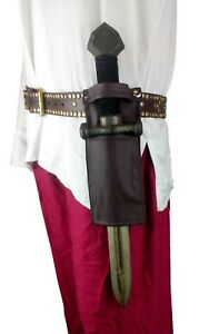 LARP Faux Leather Cosplay Fancy Dress Dagger Scabbard Medieval Black and Brown