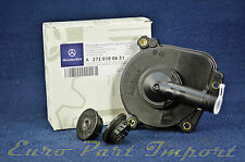 Mercedes-Benz Engine Oil Separator Cover + Seal + Camshaft Cap Genuine OEM