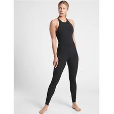 ATHLETA Pirouette Bodysuit M MEDIUM Black Yoga Dance Studio