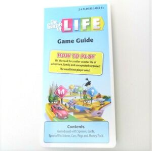 2013 Game of Life Game Guide Instruction Manual Only