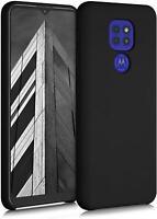 Für Motorola Moto E7 Schutzhülle, Slim Matt Schwarz Armour Handy Cover + HD Sieb