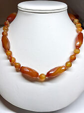 Semiprecious  Carnelian Stone Necklace - One of a Kind!!!