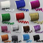 "5/30/200Yards 3/8""10mm Sparkle Glitter Velvet Ribbon Headband Clips Bows DIY S"