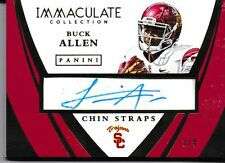 Buck Allen 2015 Immaculate Collection Collegiate Chin Straps Signatures #16 3/4