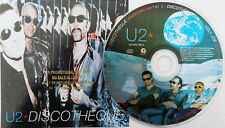 U2 CD Discotheque 5 Track USA Promo Picture Disc Gold Embossed Sleeve Unpl.