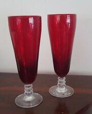 1960s Reijmyre Sweden Ruby Glass Large Goblets / Glasses