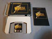 The Legend of Zelda Ocarina of Time Nintendo 64 N64 PAL GAME BOXED Sealed 1 Side