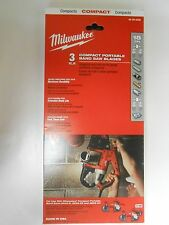 NEW Milwaukee 48-39-0529 18 TPI Compact Portable Band Saw Blade (3 PK)