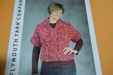 Plymouth Knitting Pattern 2420 Grandiosa Dolman Sleeve Jacket