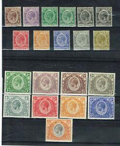 KENYA AND UGANDA - KGV 1922-1927 SG 76/95 FINE LIGHTLY MOUNTED MINT SET OF 20