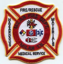 MILAN TENNESSEE TN HAZ MAT MEDICAL SERVICE FIRE PATCH