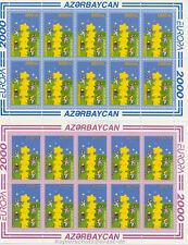 EUROPA CEPT 2000 STERNENTURM - ASERBAIDSCHAN AZERBAIJAN 461-62 A KLEINBOGEN **