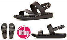 Fitflop shoes Barra Leather comfort footbed sandals Fitflop Barra Black Special