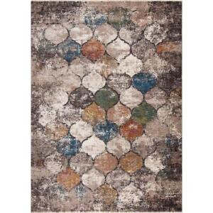StyleWell Area Rug 6 ft x 9 ft Rectangle Multi-Colored Casual Geometric Indoor