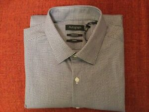 Men's M&S Autograph tailored fit shirt size 16 French Navy