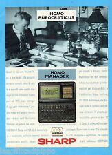 QUATTROR991-PUBBLICITA'/ADVERTISING-1991- SHARP - ELECTRONIC ORGANIZER IQ 8300 M