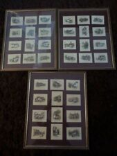 More details for 3 x framed collections of wills cigarette cards - old inns - 1 needs new glass