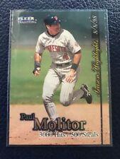 """1998 Fleer Tradition UPDATE #U6  Paul Molitor HOF Twins  """"3000 Hits/500 Steals"""""""