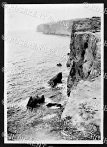 """c1946 Malta - Hal-Far - the Cliffs from the """" Ditching point""""- photo 8 by 5.5cm"""