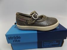 Stride Rite Girls Simone Toddler/Little Kid Gray LEA SZ 4.5 M NEW DISPLAY M803