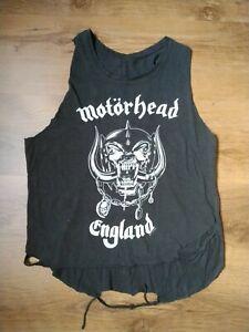 Motorhead Distressed Biker Vest Womens small