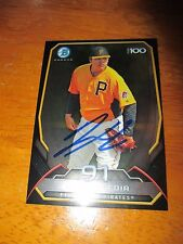 LUIS HEREDIA Pirates Signed 2014 Bowman Chrome Top 100 Card AUTO Autograph