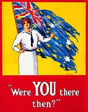 Australian War Propaganda, Woman, Vintage Magazine Art, HD Print or Canvas