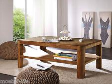 NILS Couchtisch mit Ablageboden Wohnzimmertisch Tisch Sheesham massiv 118x70 cm