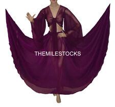 TMS PURPLE Chiffon Skirt Top Belly Costume Tribal Dress ROBE JUPE Dance EHS CST1
