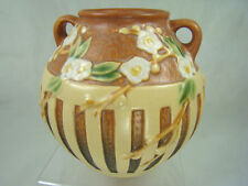 Roseville Art Pottery Antique MINT Cherry Blossom Vase 618-5 Tan and Perfect!