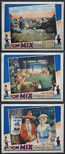 THE TEXAS BAD MAN TOM MIX WESTERN 1932 THREE LOBBY CARDS