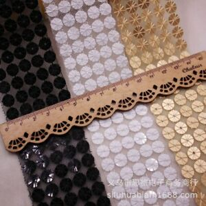 1Yards Diy 5Cm Lace Trims for Craft Sewing Material Sequin Embroidery Ribbons