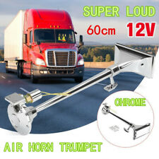 115±10db Truck Air Horn Single Long Tube Trumpet For Big Rigs 12V