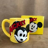 Vintage Mickey Mouse Mug 3d face head made in Japan new in box cup Disney World