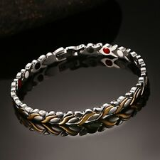 Healthy Magnetic Women's Bracelet Far Infrared Negative Ion Therapy Bangle Chain