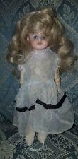 Antique German X Mark Bisque Shoulder Head Doll 10 1/2� Kid Jointed Body