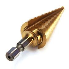 4-22MM HSS 4241 Hex Broca de cono de titanio de agujero para metal de hoja T5