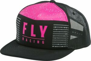 FLY Racing - HYDROGEN - BLACK/PINK - One Size Fits Most - Snapback -