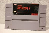 SNES Super Scope 6 Game Cartridge ONLY Super Nintendo Entertainment System, 1992