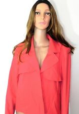 Roz & Ali Dressbarn Woman's Blazer Jacket Coral Pink Size 10 New Without Tags