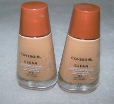 lot of 2 bottles Covergirl clean liquid foundation 155 Soft Honey
