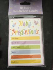 15 Baby Shower Prediction Game Cards Keepsakes Boy Girl Unisex Mum To Be Game