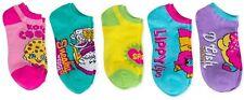 Girl's Shopkins Kooky Cookie Sneaky Wedge Lippy Lips D'lish 5pk No Show Socks