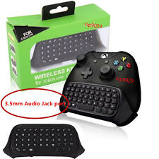 2.4G Wireless Chatpad Message Keyboard For Xbox One Controller 3.5mm Audio Port