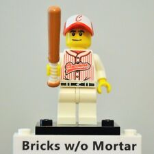 New Genuine LEGO Baseball Player with Bat Minifig Series 3 8803