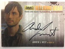 Walking Dead Season 4 PART 2 - GOLD Andrew J West - Gareth AUTOGRAPH AJW2