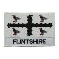 Flintshire County Flag Patch Iron On Patch Sew On Embroidered Patch